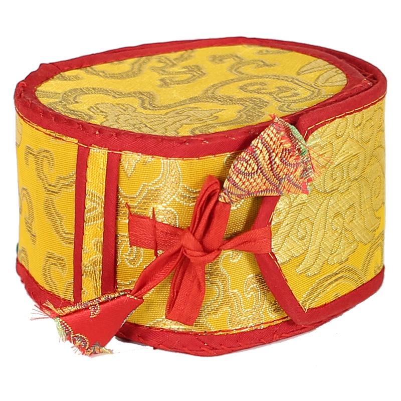 16055 1 16055 1 1 the mystic drum damaru with yellow bag jpg