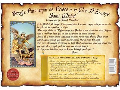 Bougie parchemin de cire a lencens saint michel
